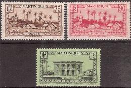 Martinique 1933-38 - Hôtel Du Gouverneur & Basse Pointe - Neuf* MH - Yvert & Tellier N° 146 à 148 - Martinique (1886-1947)