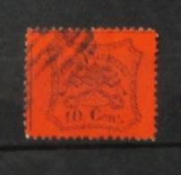 Stato Pontificio 1868 10 C Arancio Vermiglio Usato - Etats Pontificaux