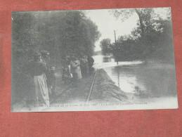 BLOIS 1907  LA CRUE DE 1907 LA LIGNE DE TRAMWAY INONDEE    EDIT  BF MTIL   CIRC OUI - Blois