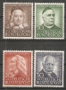 Germany (BRD) 1953  Wohlfahrt (**) MNH  MI.173-176 - [7] Federal Republic