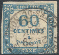 # France  J  103,  Used, Shallow  Thin, Attractive   (frj010-1.   [16-AAQ - Postage Due