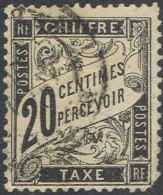 # France  J  18,  Used, Used, 4 Margins,    (frj018-2, Michel  Portofrei 16.  [16-ADR - Postage Due