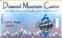 Diamond Mountain CAsino Susanville, CA - 1st Issue Slot Card - Blank Reverse - Casino Cards
