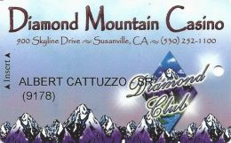 Diamond Mountain CAsino Susanville, CA - 3rd Issue Slot Card - Casino & Hotel In Reverse Logo - Casino Cards