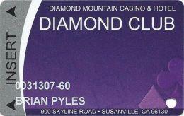 Diamond Mountain CAsino Susanville, CA - 5th Issue Slot Card - Casino Cards
