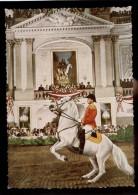[015] Pferde-Karte 076, Spanische Hofreitschule Wien, Gerittene Levade, ~1970, Verlag Rau (Wien) - Cavalli