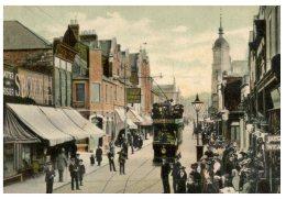 (675) Very Old Postcard - Carte Ancienne - UK - Swindon Regent Street With Tramway - Tram