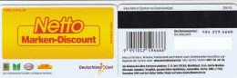 Germany - Loyality Card - Deutschland Card - Netto - Tarjetas Telefónicas