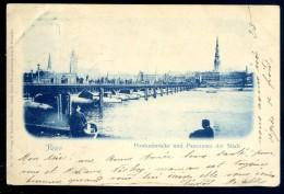 Cpa De Lettonie -- Riga - Pontonbrücke Und Panorama Der Stadt     LIOB71 - Lettonie