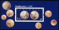 Slovenia 2007 - Slovene Euro Coins (1€) Block MNH Michel 626 - Slovenia