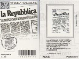 2016 - TESSERA FILATELICA NUMERO 8143 (la Repubblica)  -COME FOTO - NUOVA - 6. 1946-.. Repubblica