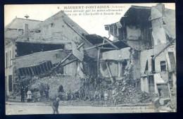 Cpa Du 08 Maubert Fontaines - Fontaine Maison Détruite Par Mines Allemandes Coin Rue De Charleville Et Grande Rue LIOB71 - France