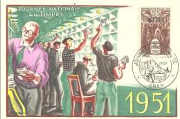 Algérie    1951 Oran Journée Du Timbre - Algérie (1924-1962)