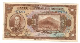 Bolivia 20 Bs. 1928, XF, Free Ship. To USA. - Bolivia