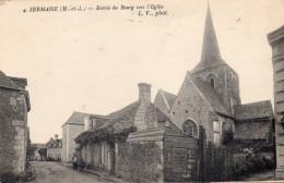 49 Sermaise Entrée Du Bourg Vers L'Eglise Animée - Unclassified