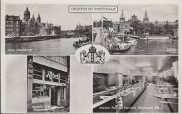 Netherland - Amsterdam - Cafetaria Ruteck - Nieuwendijk 108 - 2x Nice Stamps - Amsterdam