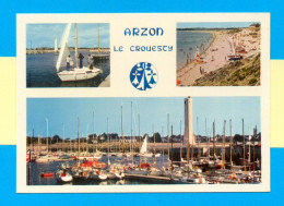 CPM  FRANCE  56  ~  ARZON  ~  4345  Le Port De Crouesty Et La Plage De Kerjouanno  ( Jos 70/80 ) - Arzon
