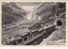 Bernina Berninabahn Bei Alp Grum Switzerland Trains Tunnel Postcard - Treni