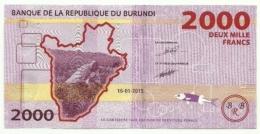 Burundi - 2.000 Francs 2015, - Burundi