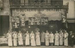 BOUCHERIE DE LA SEMEUSE - Ch Risch,carte Photo à Localiser. - Cartoline