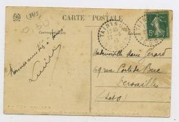 """4#FRANCE : CACHET ROND PERLÉ SUR CP DE """"TAINTRUX VOSGES 22/8/13"""" - Marcophilie (Lettres)"""