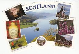 Scotland Multi View Atipic Format Postcard - Schotland