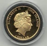 2013 - Cook Island 1 Dollar - Placcato Oro, - Cook