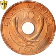 Monnaie, EAST AFRICA, 10 Cents, 1964, Heaton, PCGS, MS66RD, FDC, Bronze, KM:40 - Africa Orientale E Protettorato D'Uganda