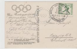 Oy175 / Amtliche Ansichtskarte Nr. 4 Vom Reichssportfeld + Marke Mit Sonderste`mpel