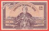 Billet Loterie SUISSE - EXPOSITION NATIONALE - GENEVE 1896 - Switzerland