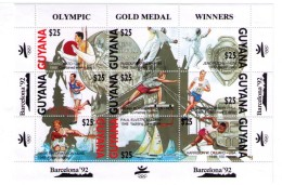 OLYMPICS GAMES 1992 GUYANA BARCELONA BARCELONE GYMNASTIC KAYAK HURDDLER CANOE   FENCING SCHERMA ESCRIME SCHERMEN ESGRIMA - Verano 1992: Barcelona
