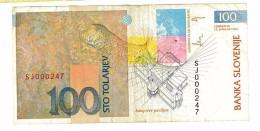 SLOVENIA - 100 STO TOLARJEV - SPL #SJ000547 - ANNO 1992 - Slovénie