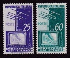 1954 Italia Italy Repubblica TELEVISIONE  TELEVISION TV Serie Di 2v. MNH** - 6. 1946-.. Republic
