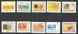 """Polynésie Service Yt 16 à 25 (avec 24a) """" Timbre Et Cachet """" 1993 Neuf** - Service"""