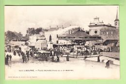 LIBOURNE - Place DECAZES Un Jour De La Foire Saint Martin - Superbe Plan Sur Manèges Et Roulottes Des Forains -  2 Scans - Libourne