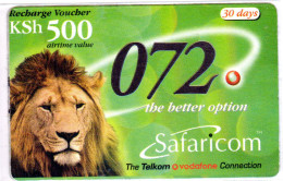 KENYA Prepayé SAFARICOM LION 31/03/2003 - Kenia