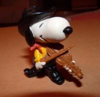 SNOOPY Peanut Hong Kong WESTERN COW BOY JOUEUR DE VIOLON / 5.5 CM - Snoopy