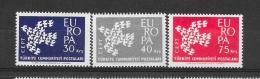 Turkije 1961 Y&T Nr° 1599/601 ** - 1961