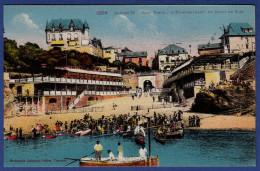 64 BIARRITZ Port Vieux, établissement De Bains De Mer ; Canots - Animée - Colorisée - Biarritz