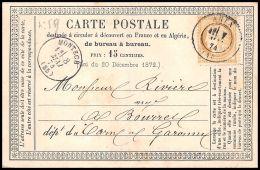 1280 Lettre France - N°59 AGEN 07/05/74 Carte Postale Précurseur N°OFF10 Pour Montech Tarn-et-Garonne - Marcophilie (Lettres)