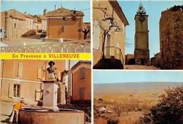 ALPES DE HAUTE PROVENCE  04    VILLENEUVE EN PROVENCE  TROIS VUES - Autres Communes
