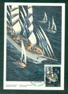 N°870 Grands Voiliers Sur Carte Maximum Oblitéré 1er Jour  Québec 1984 - Maximumkaarten