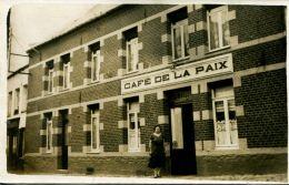 N°49145 -carte Photo Café De La Paix -à Identifier- - Cafés