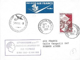 Premier Vol 25° Anniversaire Traversée De L'atlantique Sud 12.05.1930-12.05.1955 - Poste Aérienne