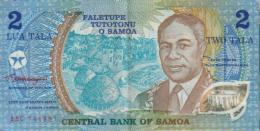 SAMOA 2 TALA POLYMER BLUE MAN FRONT PEOPLE BACK PREFIX AAB NOT ISSUED UNC ND(1990) P.31b READ DECRIPTION !! - Samoa