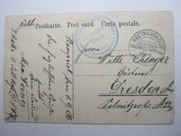 1906, Feldpostkarte Mit Truppensiegel Der Schutztruppe , Aus Keetmanshoop - Colony: German South West Africa