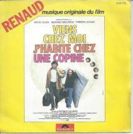 """45 Tours SP - RENAUD  - POLYDOR 2056873 - B.O Du Film  """" VIENS CHEZ MOI J´HABITE CHEZ UNE COPINE """" + 1 - Vinyles"""