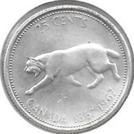 *Canada 25 Cents  1967 Km 68     Unc - Canada