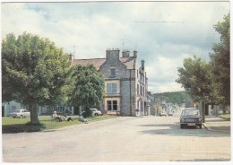 Tomintoul, Highlands: SIMCA 1301, FORD CORTINA 1300, AUSTIN GIDER - From The Square - (Banffshire, Scotland) - Passenger Cars