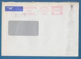 "209112 / 1990 - 0145 P - Meter Stamp "" HAAKON LTD. BASEL ""  Internanal Reinsurance Intermediaries , Switzerland Suisse - Switzerland"